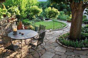 diseñar un jardín rústico